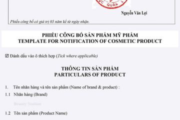 Thủ tục công bố sản phẩm mỹ phẩm